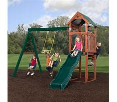 Small swing sets with slide Video