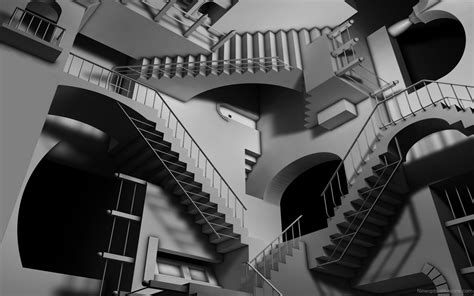 Stair Optical Illusion Drawings