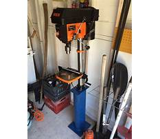 Stand for benchtop drill press Video