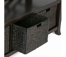 Storage bench with baskets target Video