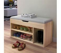 Storage bench with shoe storage Video