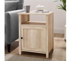 Storage end table with doors Video