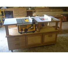 Table saw router cabinet plans Video