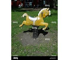 Toy hobby horse on springs Video