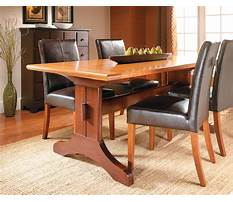 Trestle dining room table plans Video