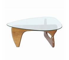 Triangle glass end table Video