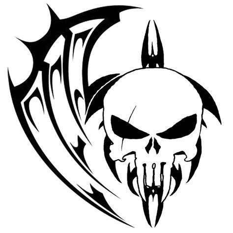 Tribal Skull Tattoo Drawings