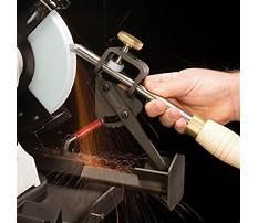 Turning tool sharpening jig Video