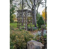 Twig garden trellises Video