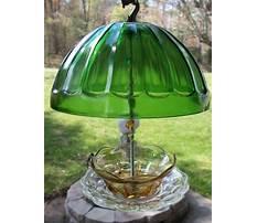 Vintage glass hanging bird feeders Video