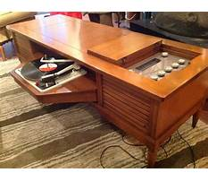 Vintage record player end table cabinet Video