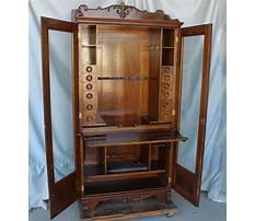 Vintage wood gun cabinet Video