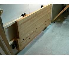 Wall mounted fold away workbench Video