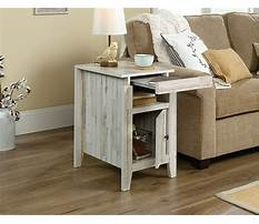 White inexpensive end tables Video