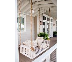 White porch swings with rope Video