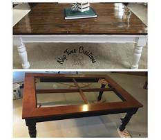 Wood and glass coffee table redo Video