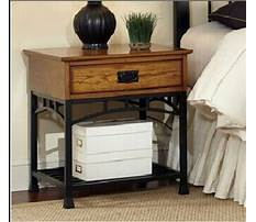 Wood and wrought iron night stand Video