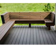 Wood bench designs for decks Video