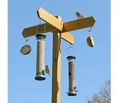 Wood bird feeder post Video