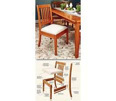 Wood dining room chair plans Video