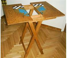 Wood folding table plans Video