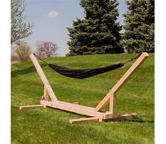 Wood hammock stand plans Video