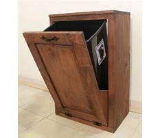 Wood kitchen garbage cabinet Video
