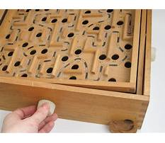 Wood marble maze game Video