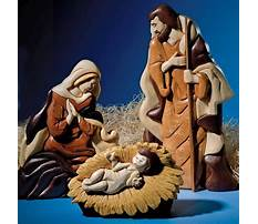 Wood nativity pattern Video