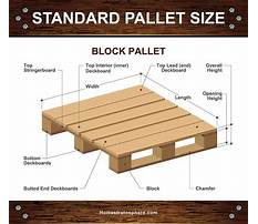 Wood pallet dimensions Video