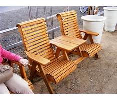 Wood patio chair plans Video
