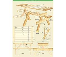 Wood picnic table plans free Video