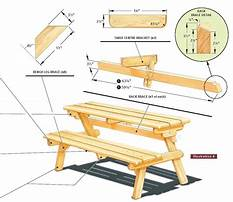 Wood picnic table plans pdf Video