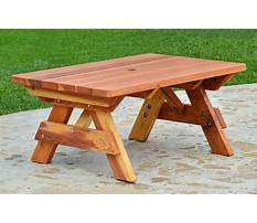 Wood picnic table plans Video
