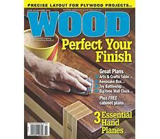 Wood plans magazine Video