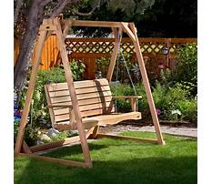 Wood porch swings canada Video