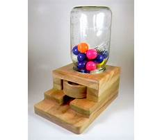 Wood projects gumball machine Video