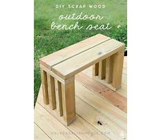 Wood seating bench plans Video