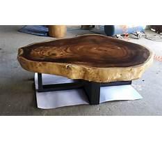 Wood slab coffee table canada Video
