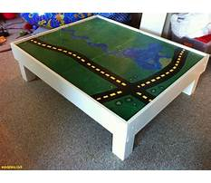 Wood train table plans free Video