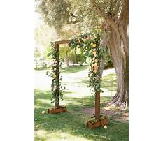 Wooden arches for weddings Video