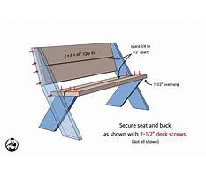 Wooden bench patterns free Video