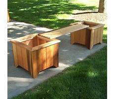 Wooden bench planters Video