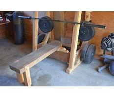 Wooden bench press Video