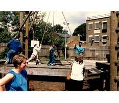 Wooden bridge adventure playground crouch hill Video