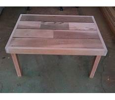 Wooden coffee table project Video