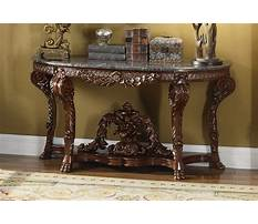Wooden console table with marble top Video