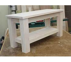Wooden entryway bench plans Video