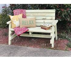 Wooden front porch bench Video