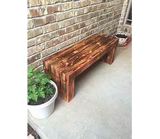 Wooden front porch benches Video